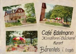 Ansichtskarte, Kurort Bärenfels i. Erzgeb., Café