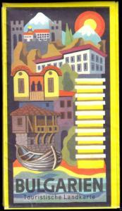 Physische Karte, Bulgarien, 1977