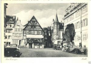 Ansichtskarte, Bad Kissingen, Marktplatz, Autos, um 1948