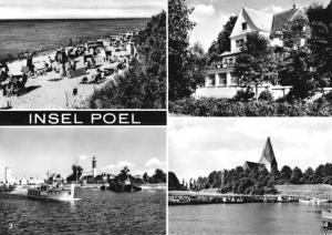 Ansichtskarte, Insel Poel, vier Abb., 1970