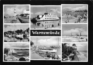 Ansichtskarte, Rostock Warnemünde, acht Abb., 1963