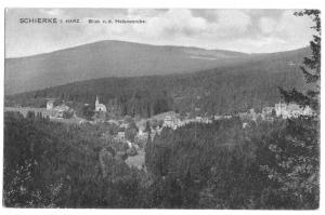 Ansichtskarte, Schierke, Harz, Blick von der Heleneruhe, um 1914