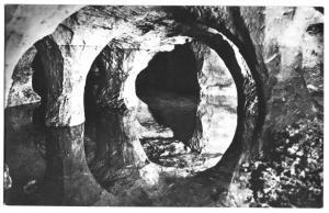 Ansichtskarte, Walldorf b. Meiningen, Sandstein-Höhle, Säulenpartien, Version 1, 1959