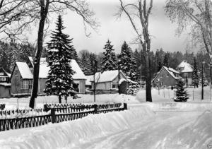 Ansichtskarte, Elend Harz, winterliche Straßenpartie, 1970