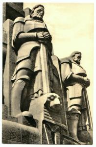 Ansichtskarte, Leipzig, Völkerschlachtdenkmal, Freiheitswärter, 1957