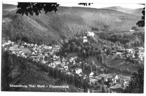 Ansichtskarte, Schwarzburg Thür. Wald, Trippsteinblick, 1973