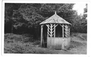 Ansichtskarte, Masserberg Thür. Wald, Heidehütte am Rennsteig, 1955