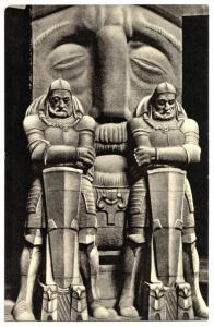 Ansichtskarte, Leipzig, Völkerschlachtdenkmal, Krieger in der Krypta, 1959