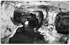 Ansichtskarte, Walldorf b. Meiningen, Sandstein-Höhle, Säulenpartien, Version 2, 1959