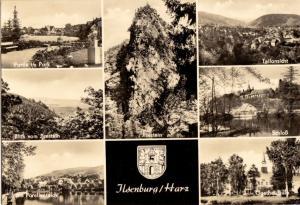 Ansichtskarte, Ilsenburg Harz, sieben Abb., gestaltet, 1967