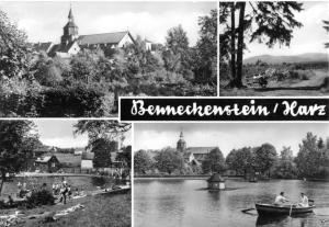 Ansichtskarte, Benneckenstein Harz, vier Abb., u.a. Freibad, 1970