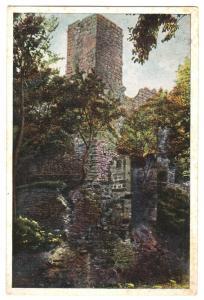Ansichtskarte, Bad Blankenburg, Schwarzatal, Ruine Greifenstein, Farbdruck, um 1935
