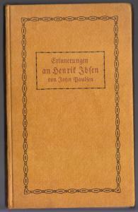 Paulsen, John; Erinnerungen an Henrik Ibsen, 1907