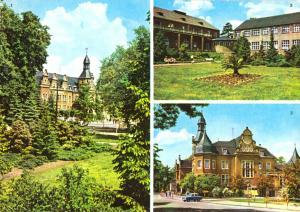 Ansichtskarte, Bad Schmiedeberg (Dübener Heide), drei Abb., 1977