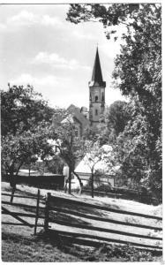 Ansichtskarte, Lengefeld Erzgeb., Blick zur Kirche, 1965