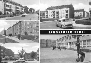 Ansichtskarte, Schönebeck Elbe, fünf Abb., Neubauten, 1970