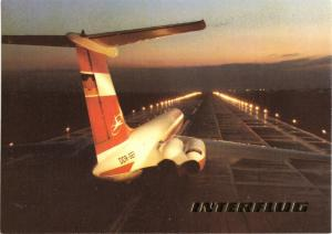 Ansichtskarte, Fugverkehr, Interflug, IL 62 der Interflug beim Start, 1990