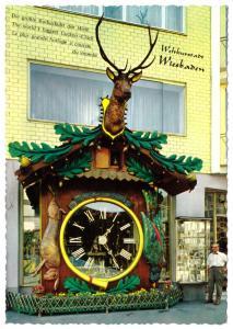 Ansichtskarte, Wiesbaden, größte Kuckucksuhr der Welt, um 1968