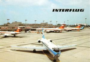 Ansichtskarte, Fugverkehr, Interflug, Flughafen Berlin Schönefeld, Abfertigung, 1990