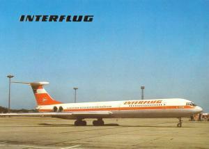 Ansichtskarte, Fugverkehr, Interflug der DDR, IL 62, 1988