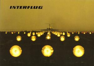 Ansichtskarte, Berlin Schönefeld, Fugverkehr, Interflug der DDR, Landebahn, 1988