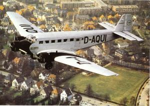 Ansichtskarte, Flugzeug Ju 52 D-AQUI