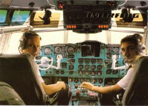 Ansichtskarte, Fugverkehr, Interflug der DDR, IL 62, Cockpit, 1988