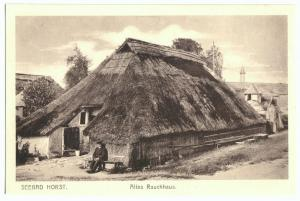 Ansichtskarte, Seebad Horst, Niechorze, Altes Rauchhaus, um 1925
