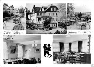 Ansichtskarte, Kurort Bärenfels Osterzgeb., Café Vollrath, fünf Abb., gestaltet, 1985