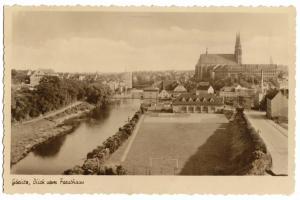 Ansichtskarte, Görlitz, Teilansicht, Blick vom Forsthaus, Eichtfoto, 1952