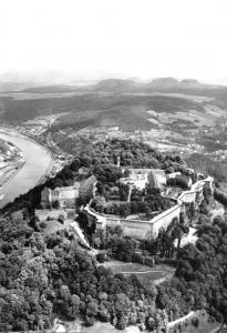 Ansichtskarte, Königstein Sächs. Schweiz, Festung Königstein, Luftbild, 1974