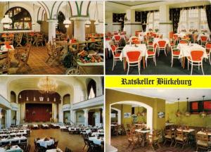 Ansichtskarte, Bückeburg, Ratskeller Bückeburg, Bahnhofstr. 2, vier Abb., um 1977