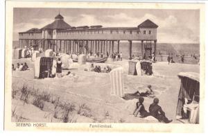Ansichtskarte, Seebad Horst, Niechorze, Familienbad, um 1925