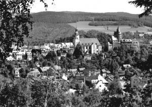 Ansichtskarte, Schwarzenberg Erzgeb., Teilansicht, 1970