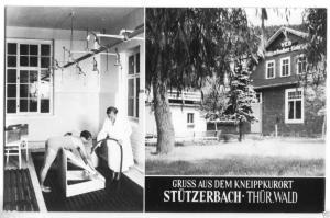 Ansichtskarte, Stützerbach Thür. Wald, zwei Abb., Kneippkureinrichtungen, 1966