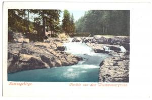 Ansichtskarte, Riesengebirge, Parthie aus dem Weisswassergrund, um 1902