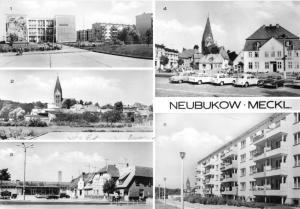 Ansichtskarte, Neubuckow Meckl., fünf innerstädtische Abb., 1977