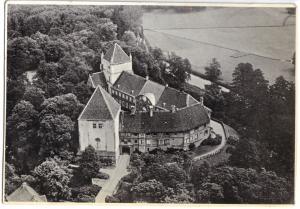 Ansichtskarte, Rheda-Wiedenbrück, Schloß Rheda, Luftbildansicht, um 1931