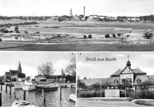 Ansichtskarte, Barth, Gruß aus Barth, drei Abb., 1987