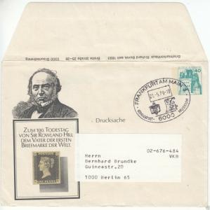 Ganzsache, Umschlag, Michel, BRD PU 110, 6c, o Frankfurt am Main 3, 21.5.79