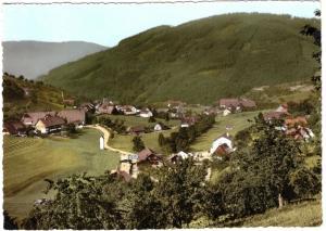 Ansichtskarte, Seebach nördl. Schwarzw., Teilansicht, um 1968