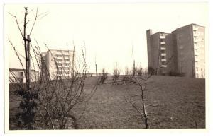 Ansichtskarte, Hamburg Farmsen, Neubaugebiet, 1960er, Echtfoto