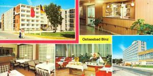 Ansichtskarte lang, Ostseebad Binz auf Rügen, fünf Abb., 1984