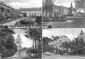 Ansichtskarte, Bad Schmiedeberg Dübener Heide, vier Abb., 1983