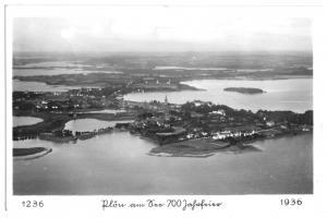 Ansichtskarte, Plön, Luftbildansicht, 700-Jahrfeier 1236 - 1936