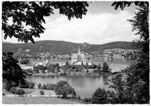 Ansichtskarte, Maria Wörth am Wörthersee, Totale, ca. 1963