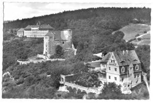 Ansichtskarte, Bad Frankenhausen Kyffhäuser, Kindersanatorium, Hausmannsturm ..., 1957