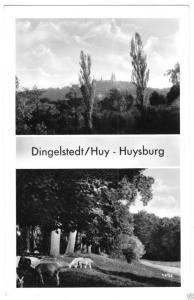 Ansichtskarte, Dingelstedt Huy, Huysburg, Kr. Halberstadt, zwei Abb., 1957