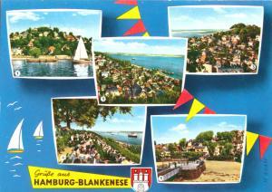 Ansichtskarte, Hamburg Blankenese, fünf Abb., gestaltet, um 1965