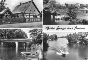 Ansichtskarte, Prieros Kr. Königs Wusterhausen, vier Abb., 1982
